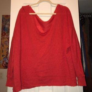 Free People Casual Red Sweater
